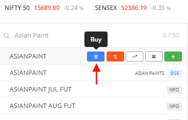 Buying shares step 3